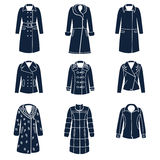 Tipi differenti di vestiti di inverno delle donne Illustrazione di Stock