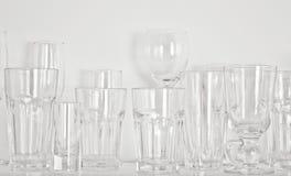 Tipi differenti di vetri Fotografia Stock