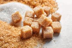Tipi differenti di zuccheri Immagini Stock Libere da Diritti