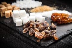 Tipi differenti di zuccheri Immagine Stock