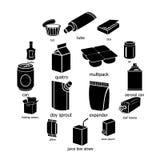 Tipi icone messe, stile semplice del pacchetto Fotografia Stock