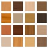 Tipi insieme ordinato di parquet dei campioni di legno Immagine Stock