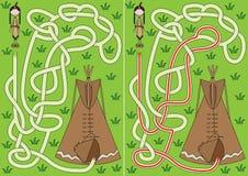 Tipi labirynt ilustracji