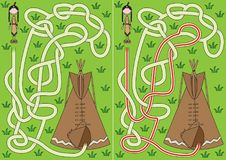 Tipi maze. For kids with a solution Stock Image