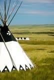 Tipi op prairies 1 Stock Foto's