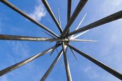 Tipi poles Royalty Free Stock Photo