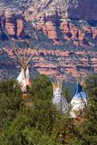 Tipi and Red Rocks royalty free stock photography