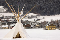 Tipi in snow Stock Photography