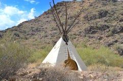 Tipi sur une montagne Image libre de droits
