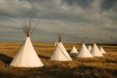 Tipi village Royalty Free Stock Photos