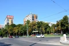 Tipical都市风景在布加勒斯特 免版税库存照片