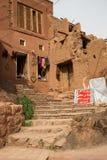 Tipical красные дома грязь-кирпича в старой деревне Abyan Стоковое Фото
