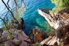 Tipical Adriatiska havet lagun royaltyfri bild