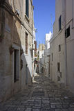 Tipical alley in Ostuni Stock Photo