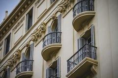 Tipical-Architektur der spanischen Stadt von Valencia Lizenzfreie Stockfotografie