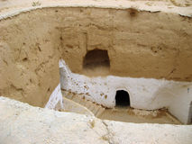 Tipical berber house at Matmata,Tunis stock photography