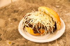 Tipical-Brot mit Milz in Palermo Lizenzfreie Stockfotografie