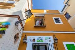 Tipical building in Santa Cruz Quarter, Seville, Andalucia, Spain Stock Photo