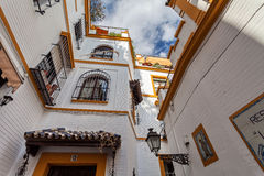 Tipical building in Santa Cruz Quarter, Seville, Andalucia, Spain Royalty Free Stock Photography