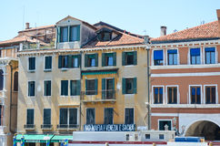 Tipical buildings in Venice,Italy Stock Photo