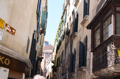 Tipical buildings in Venice,Italy Royalty Free Stock Photography