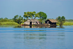 Tipical House boat,     Cambodia. Stock Photos