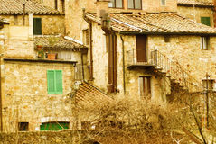 Tipical houses of tuscany Stock Photos