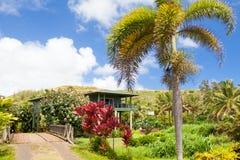 Tipical hus i den kawaiihawaii ön Arkivfoton