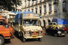 Tipical indian truck at Mumbai Stock Photos