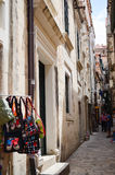 Tipical little street  in old town of Dubrovnik ,Croatia Royalty Free Stock Images