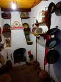 Tipical old Andalusian kitchen in Mijas Village, Spain. Stock Image