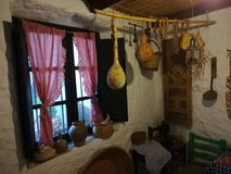 Tipical old Andalusian kitchen in Mijas Village, Spain. Stock Images