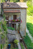 Tipical old mountain house in Tuscany Royalty Free Stock Images