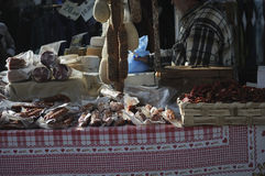 Typical Italian food. Tipical products in market of Treviso city Stock Photo