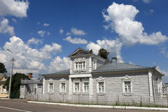 Tipical russian wooden house Royalty Free Stock Images