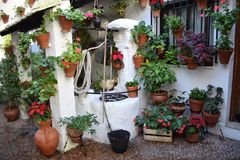 Tipical south spain courtyard Royalty Free Stock Image