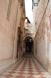 Tipical  street in the old town of Dubrovnik Stock Image