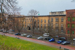 Tipicalstraat in Krakau stock foto's