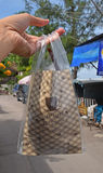 Tipico porti via il caffè tailandese Immagine Stock
