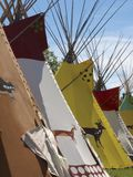 Tipis at Calgary Stampede Royalty Free Stock Photos