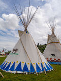 Tipis in the Indian Village at the Calgary Stampede Royalty Free Stock Photography