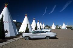 Tipis and Oldtimer 3 Stock Photos