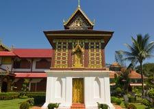 Tipitakazaal in Wat Hua Kuang Stock Foto