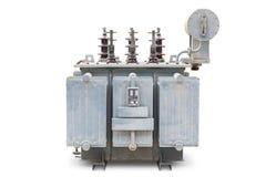 Tipo aberto trifásico velho transformador imergido óleo imagem de stock royalty free