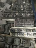 Tipo alto bloccato del metallo dello scritto tipografico Immagini Stock Libere da Diritti