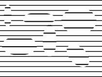 Tipo blanco y negro de la ilusión que alinea el fondo en forma del extracto y de la repetición libre illustration