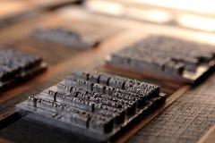 Tipo bloques del metal Fotografía de archivo libre de regalías