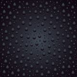 Tipo bolha do pingo de chuva no molde de vidro do fundo Foto de Stock