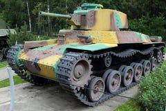 Tipo 97 carro de combate médio Japão de Shinhoto Qui-Ha por motivos da arma Fotos de Stock Royalty Free