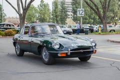 Tipo classico automobile classica di Jaguar E su esposizione fotografie stock